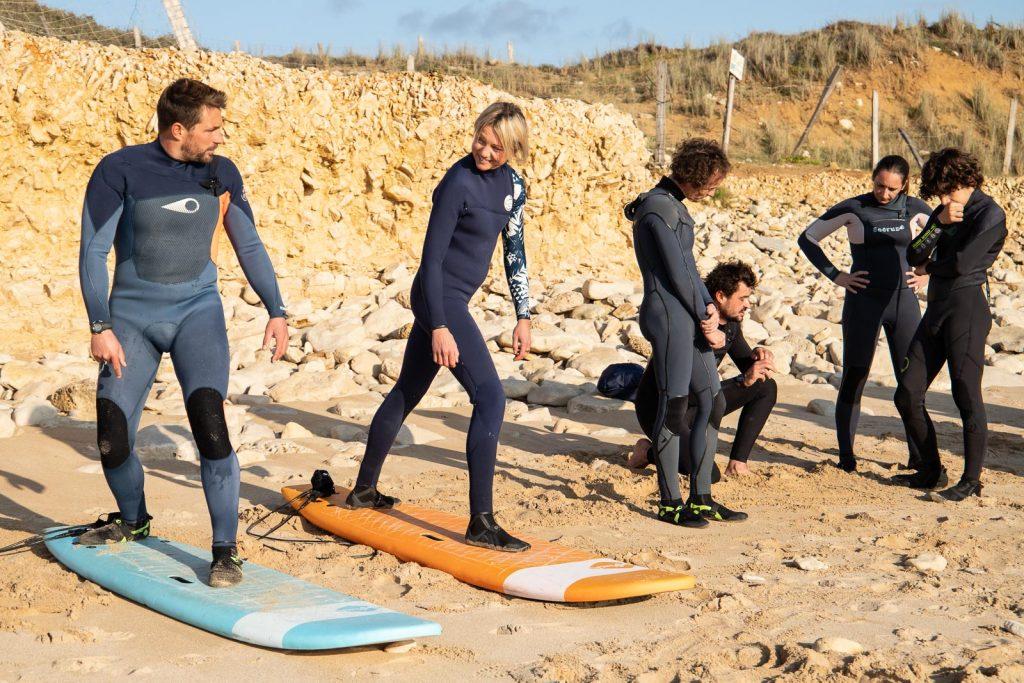 Surf'in Ré cours de surf itinérant