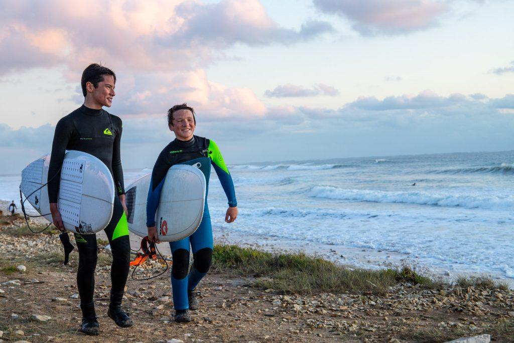 cours de surf avec Surf'in Ré