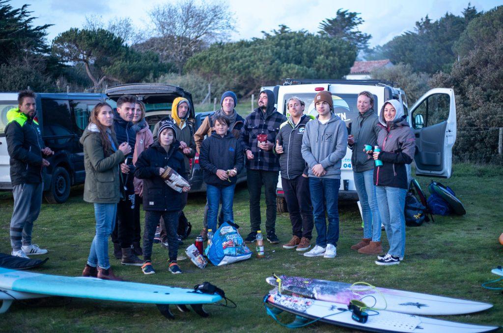 collation cours de surf itinérant sur l'ile de ré