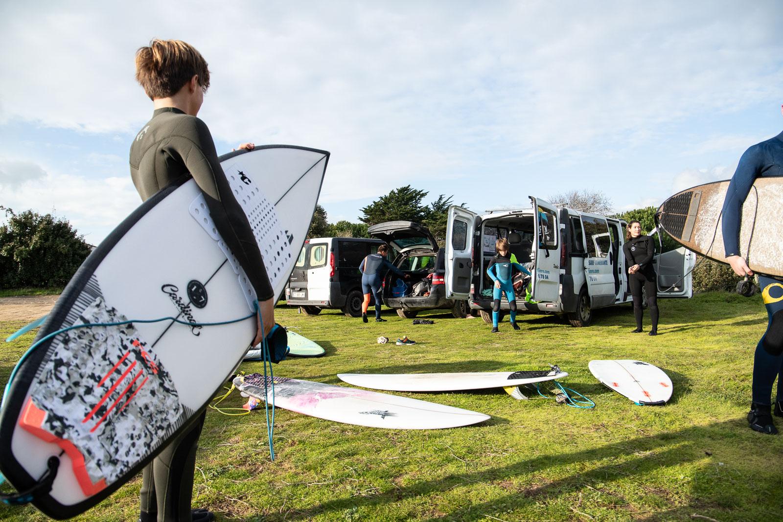 préparation cours de surf ile de Ré