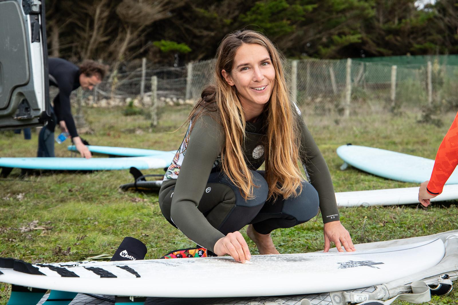 préparation cours de surf ile de ré avec l'école de surf Surf'in Ré