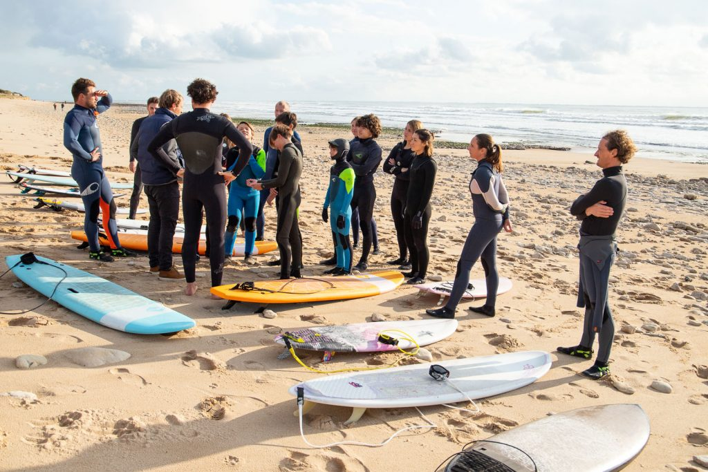 surf ile de ré avec Surf'in Ré l'école de surf itinérante