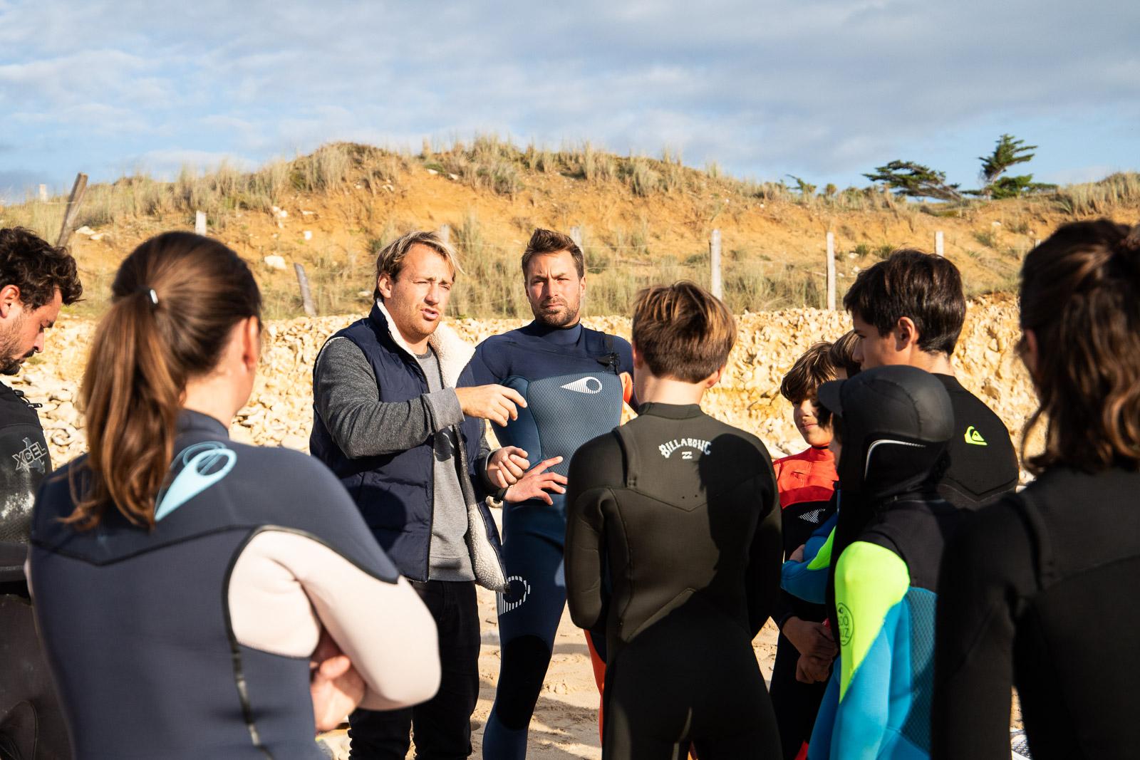 lesson de surf sur l'ile de Ré avec Surf'in Ré