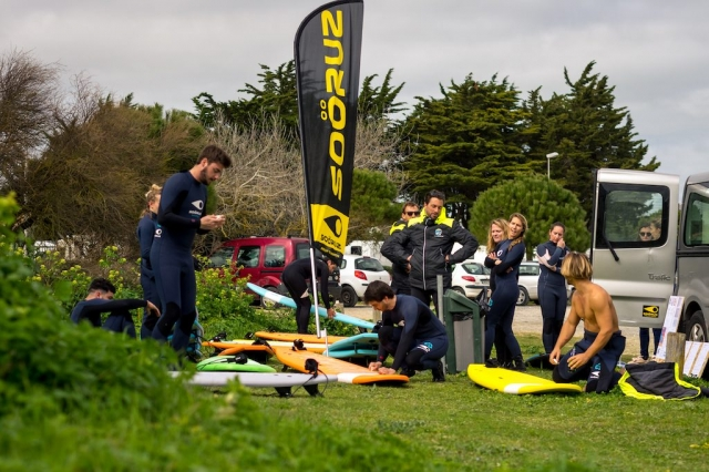 groupe cours de surf ile de ré