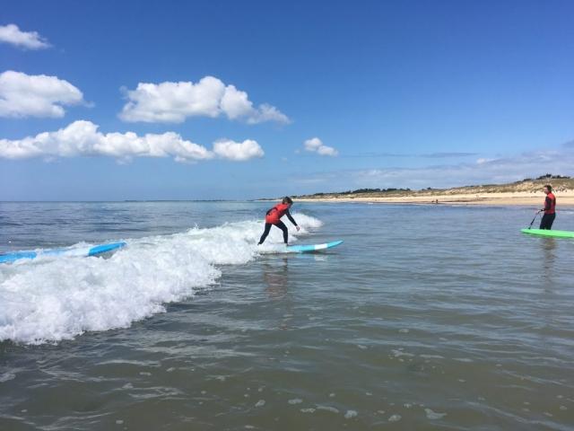 surf bois plage en ré sur l'ile de ré